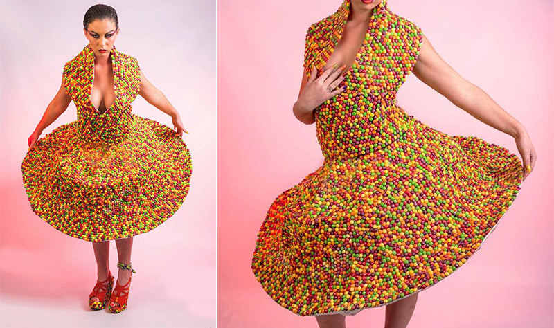 Dresses Made of Toilet Paper and a Thesaurus  How about a tasty Skittles dress