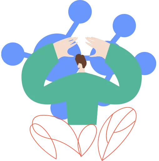 Vector Illustration meaning experience and connections