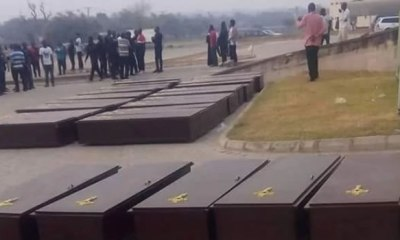 Benue under a well planned funded siege, Ortom cries as he buries victims of herdsmen attack