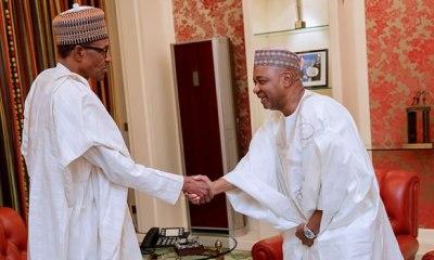 Ex-VP Sambo meets Buhari behind closed doors