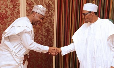 One day after Saraki's meeting with PDP leaders, Buhari hosts him