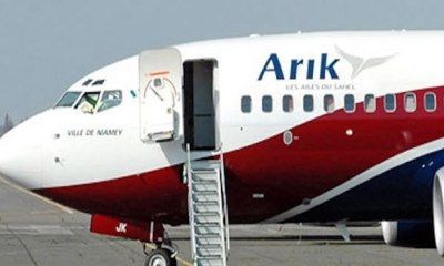 Arik Air engine fail leaves passengers stranded