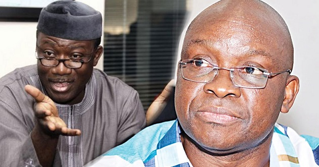 Image result for Fayose attacks Gov. Fayemi for refusing to probe him