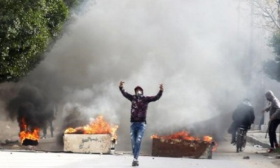 Wild protests in Tunisia after journalist sets self ablaze
