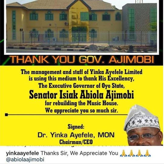 Oyo govt completes rebuilding of Ayefele's Music House, 1-yr after demolition