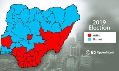 2019 PRESIDENTIAL ELECTION– How Nigeria Voted: BUHARI (15,191,847) – ATIKU (11,262,978)