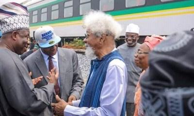 Soyinka, Amaechi, Alake of Egbaland, Amosun, others in launch of Lagos-Abeokuta rail test run