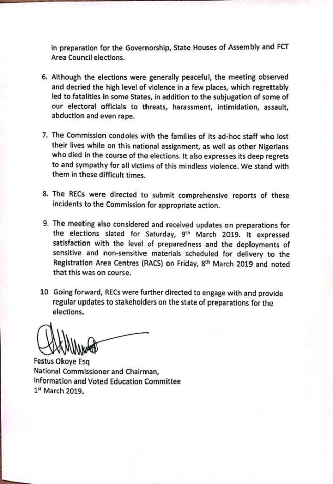 INEC fixes date for inconclusive, cancelled elections