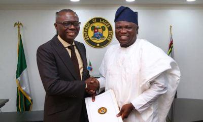 LAGOS: Ambode 'quietly' hands over to Sanwo-Olu