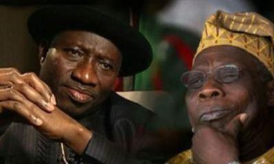 Group calls for probe, ban of former presidents Obasanjo, Jonathan