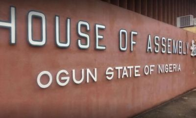 OGUN: Ogun councillors lay siege on House of Assembly over suspension