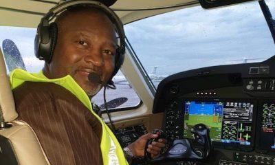 Hadi Sirika in the new aircraft