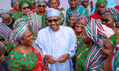 Buhari with the women