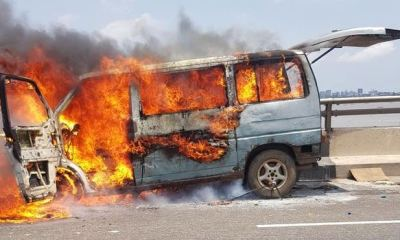 5 burnt to death, 10 injured as bus tumbles, goes up in flames