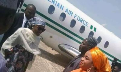 Pro-Buhari group changes narrative, claims Buhari's daughter used Presidential jet for assignment to represent he father