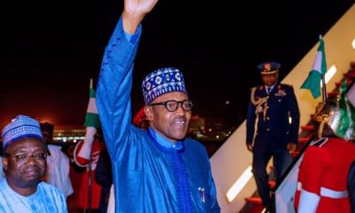 PMB returns to Nigeria from London