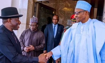 After meeting with service chiefs, Buhari receives Jonathan