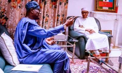 CORONAVIRUS: Buhari, Sanwo-Olu meet Aso Rock