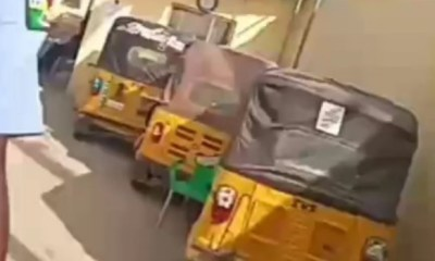 LAGOS LOCKDOWN: Police officer caught receiving bribe for seized vehicles arrested (see video)