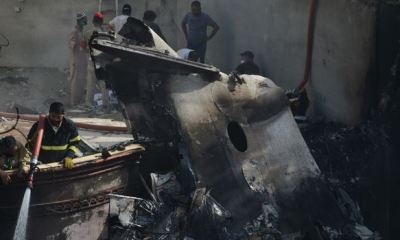 Bank executive, one other pulled out alive from wreckage of crashed Pakistani plane