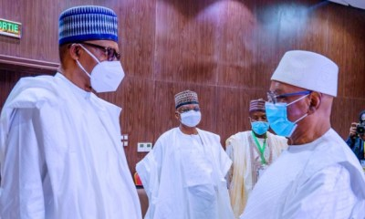 COVID-19: Buhari spotted wearing face mask for the first time