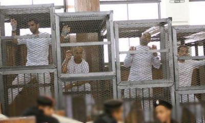 Inmates in Egyptian prison in Cairo