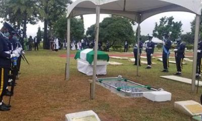 Flying Officer Arotile laid to rest in Abuja