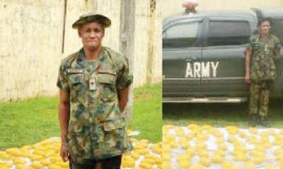 Police arrests fake soldier with 420 wraps of hemp, fake army van