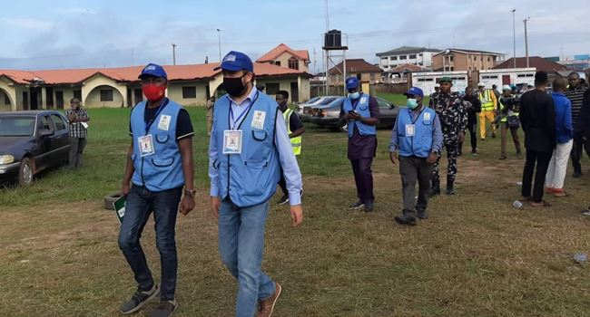 ONDO POLL: Foreign observers arrive polling unit, as Jegede, wife queue to vote
