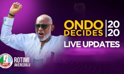 #OndoDecides: Akeredolu returns as governor, beats Jegede, Ajayi