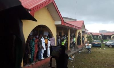 ONDO POLL: Sudden rain interrupts voting process in Jegede's unit