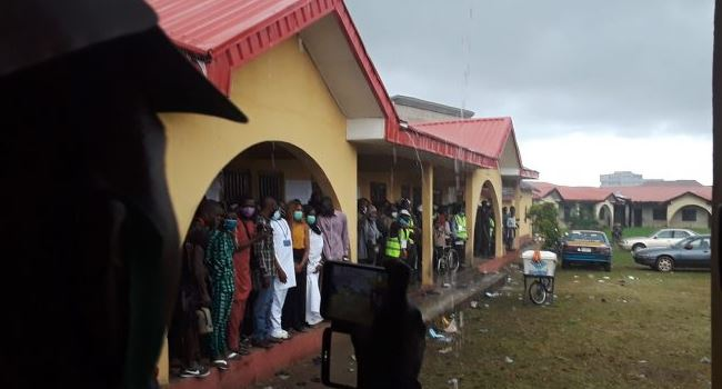 ONDO POLL: Sudden rain interrupts voting process in Jegede's unit
