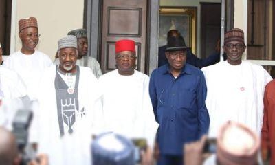 APC caretaker chairman, governors visit Jonathan in Abuja