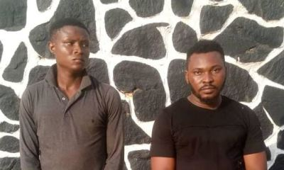 Police arrests two men for allegedly gang-r*ping 19-year-old girl in Ogun