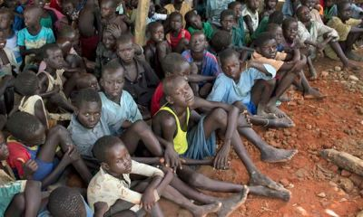 Hungry children in South Sudan