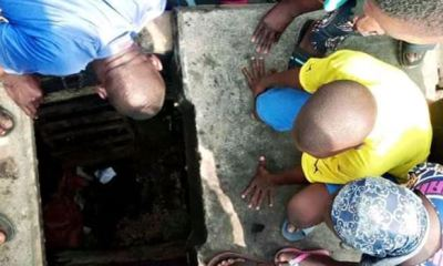 Lagos residents discover tunnel allegedly used by kidnappers, ritualists, beat suspect to death