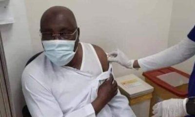 Atiku receives Pfizer COVID-19 vaccine in the UAE
