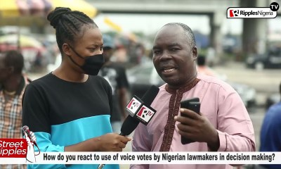 STREET RIPPLES: How do you react to use of voice votes by Nigerian lawmakers in decision making?