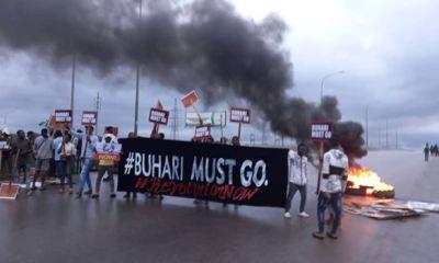'Buhari must go' protesters storm Abuja