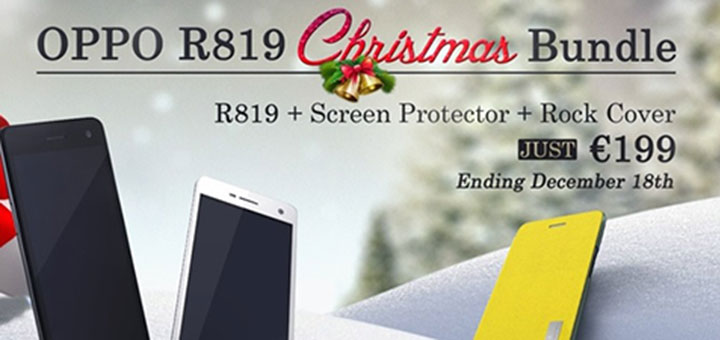 Oppo R819 Christmas Bundle a 199 Euro