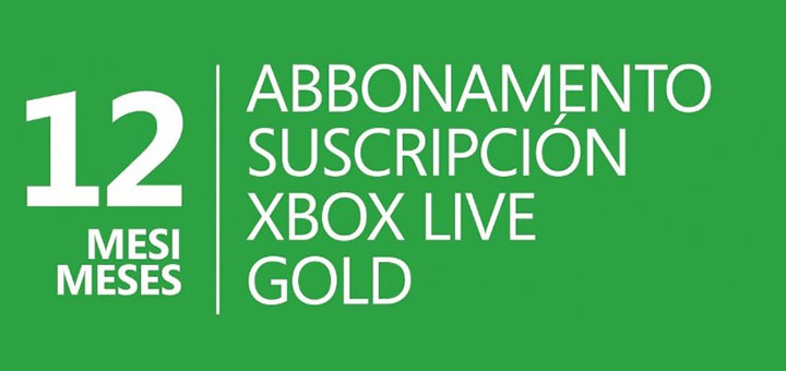Xbox Live Gold 12 mesi a 26,99 Euro
