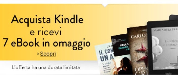 Acquista un Amazon Kindle e ricevi 7 ebook in omaggio
