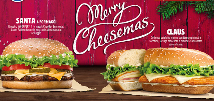 Nuovi buoni sconto Burger King: Merry Cheesemas! :)