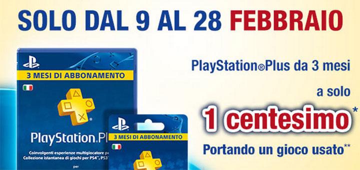 Gamestop: portando 1 gioco usato* abbonamento PSN Plus 3 mesi a solo 1 centesimo