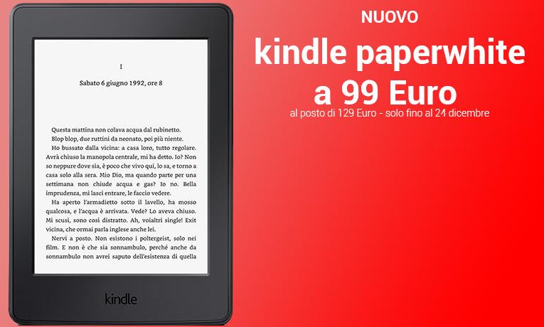 Nuovo Kindle Paperwhite a 99 Euro
