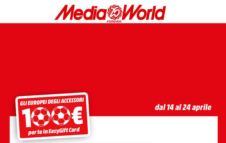MediaWorld: EasyGift Card da 100 Euro in regalo acquistando 100 Euro in accessori – Terminata