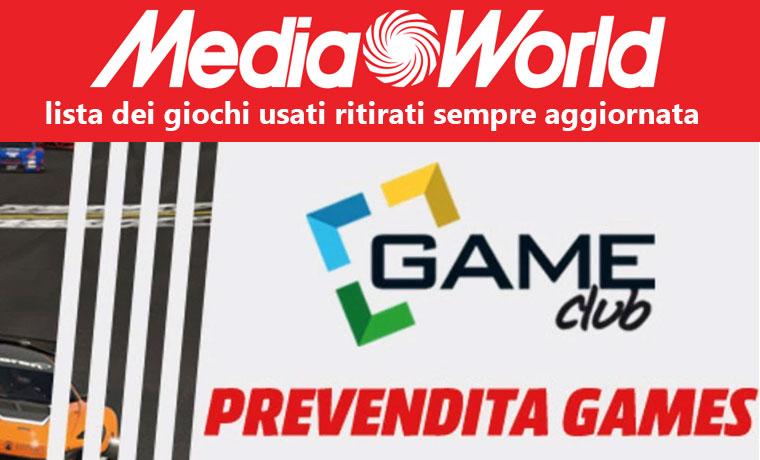 Le liste dei giochi usati accettati da Media World (agg. 14/04/2017)