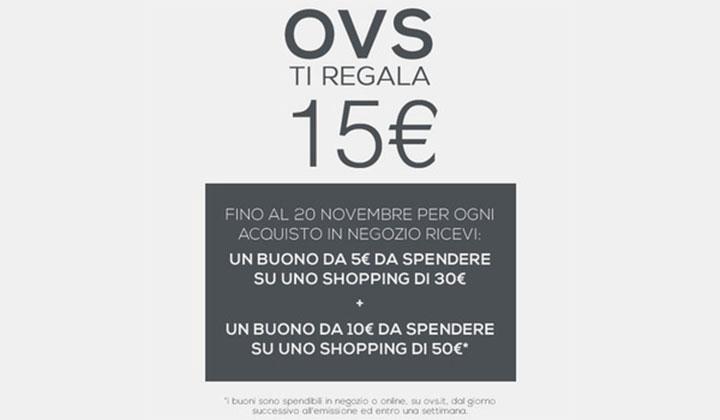 OVS ti regala 15 Euro