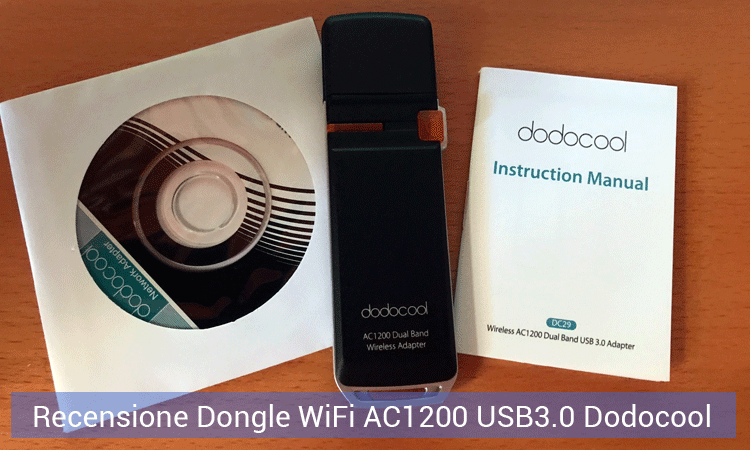Recensione Dongle WiFi AC1200 USB3.0 Dodocool