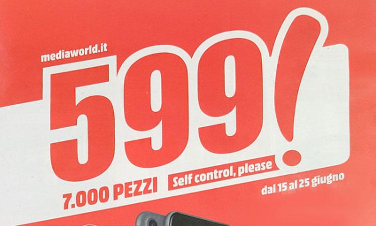 """Volantino Media World """"Self Control"""" valido da 15 al 25 giugno"""